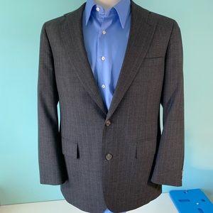 Dark Gray Pinstripe Wool Suit 1427